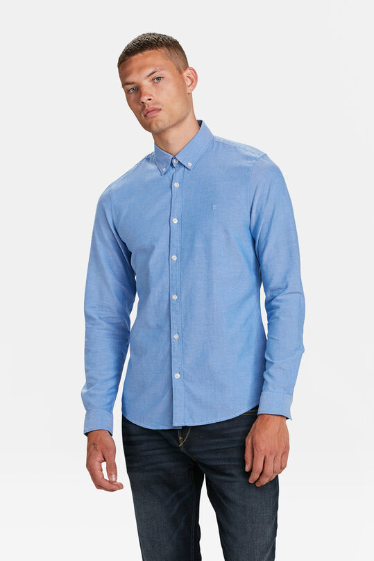 HEREN SLIM FIT OXFORD OVERHEMD Felblauw