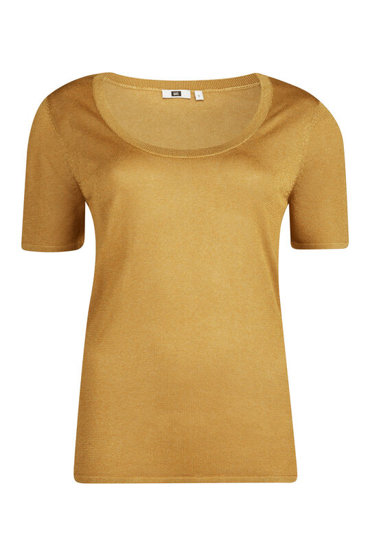 Dames knitted lurex top Goud