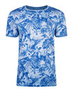 HEREN FLOWER PRINT T-SHIRT, Blauw