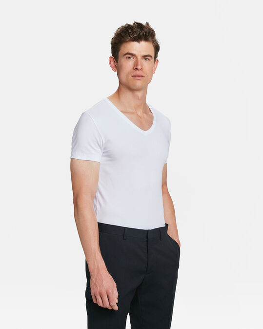 HEREN INVISIBLE T-SHIRT, 2-PACK Wit