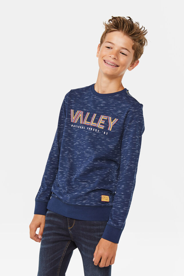 Jongens valley T-shirt Marineblauw