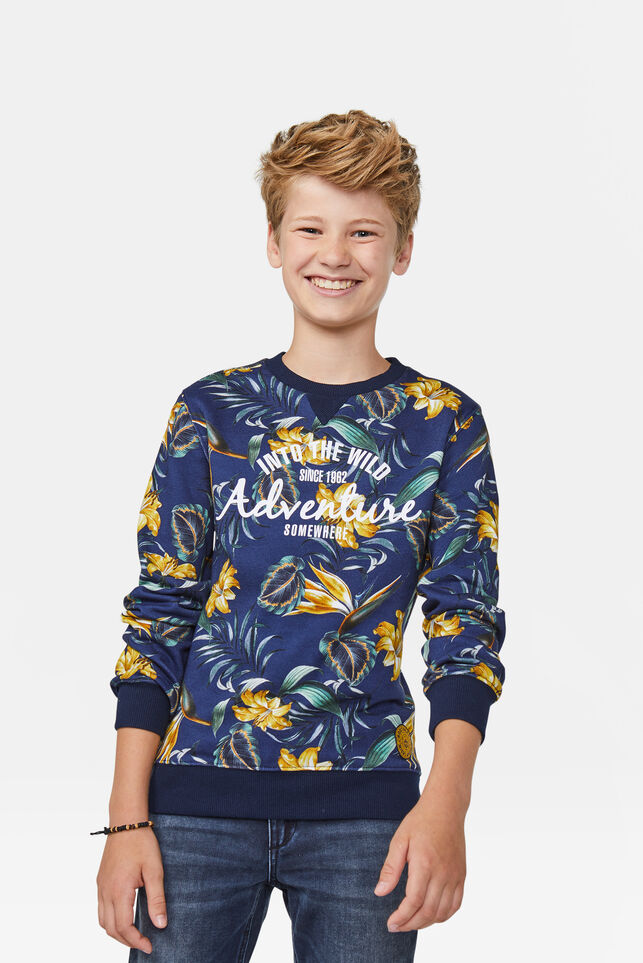 Jongens adventure sweater Marineblauw