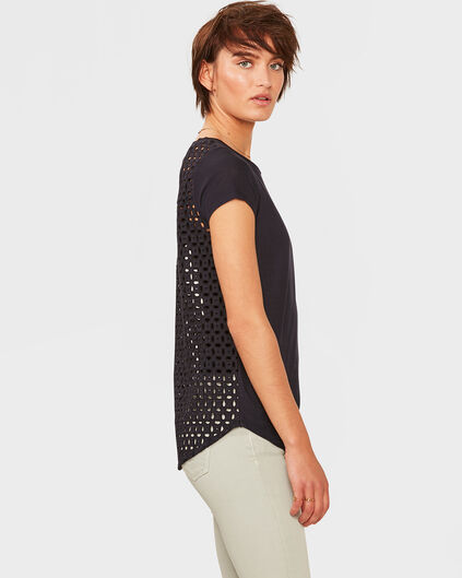 DAMES EMBROIDERY TOP Donkerblauw