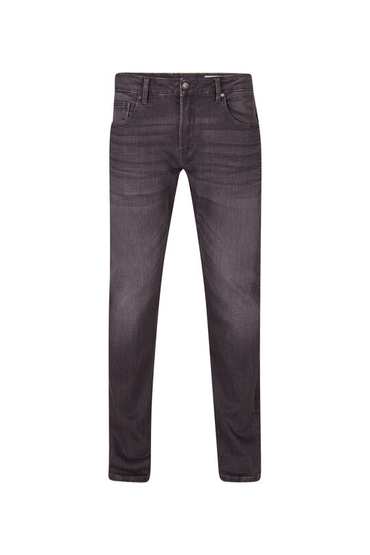 Heren regular straight jog denim jeans Grijs