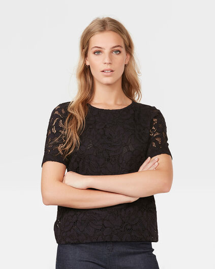 DAMES LACE TOP Donkerblauw