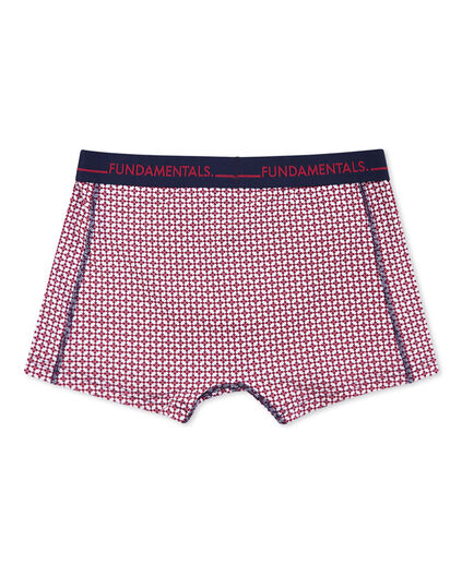 HEREN GRAFISCHE PRINT BOXERSHORT Bordeauxrood