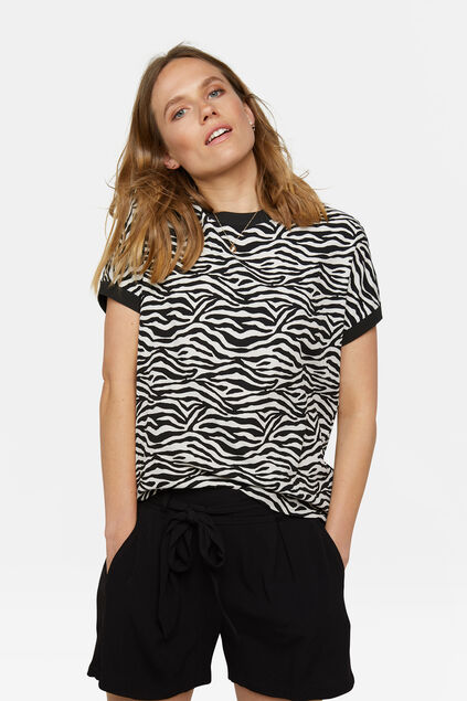 Dames print top Zwart