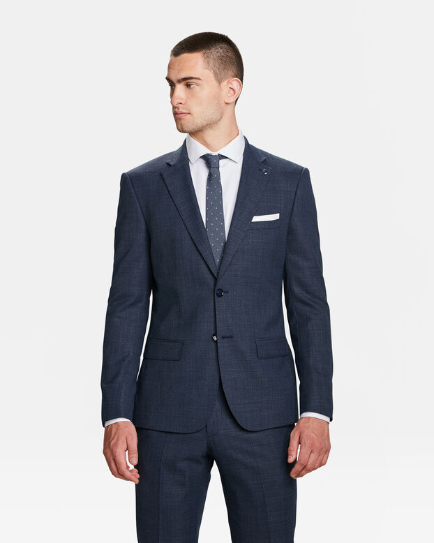 HEREN SLIM FIT BLAZER ALBANY Marineblauw