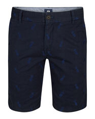 HEREN REGULAR FIT ANANAS CHINO SHORT_HEREN REGULAR FIT ANANAS CHINO SHORT, Marineblauw