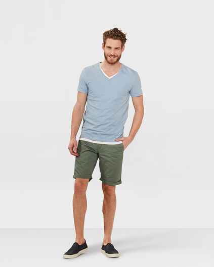 HEREN REGULAR FIT CHINO SHORT Legergroen