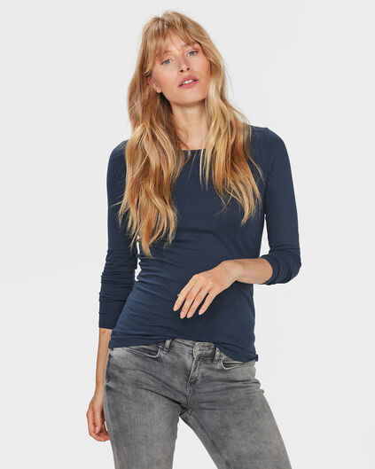 DAMES ORGANIC COTTON SHIRT Blauw