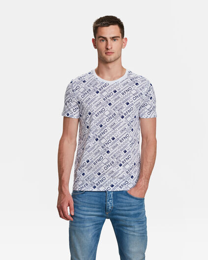 HEREN ESSENTIAL PRINT T-SHIRT Wit