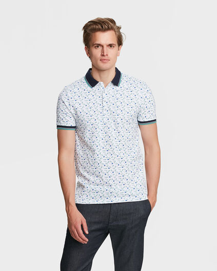 HEREN INSECTS PRINT POLOSHIRT Mintgroen