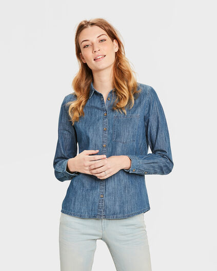 DAMES REGULAR FIT BLOUSE Blauw