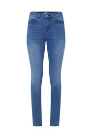 Dames mid rise skinny jeans_Dames mid rise skinny jeans, Donkerblauw
