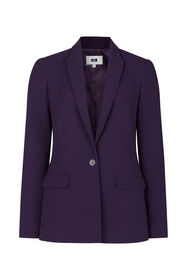 Dames regular fit blazer_Dames regular fit blazer, Donkerpaars
