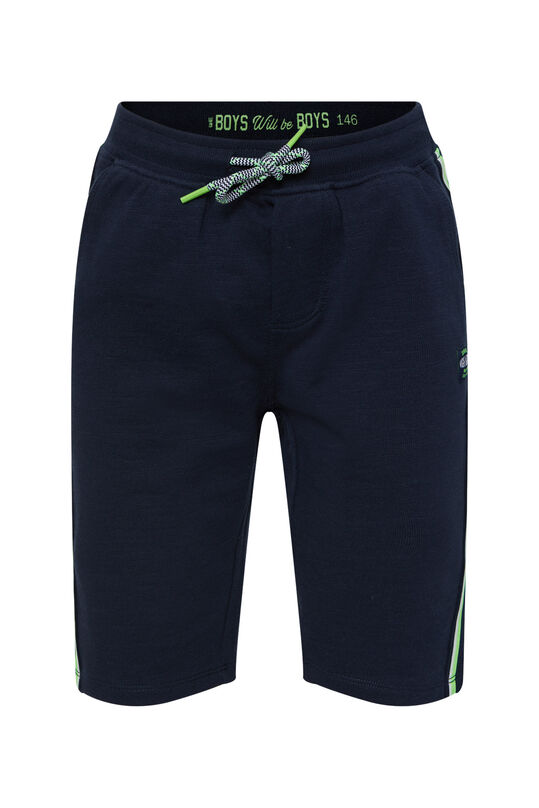 Jongens sweat short met tapedetail Donkerblauw