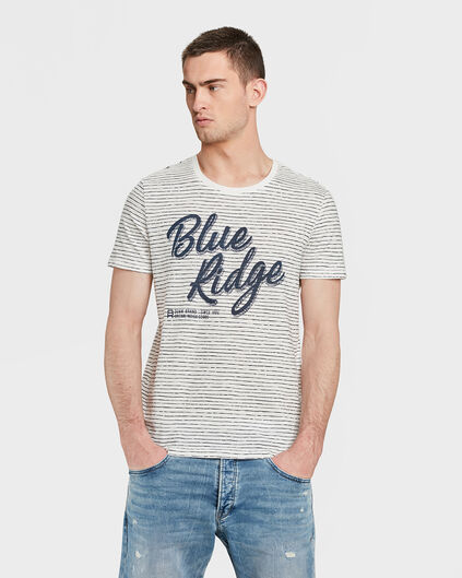HEREN BLUE RIDGE GESTREEPT T-SHIRT Gebroken wit