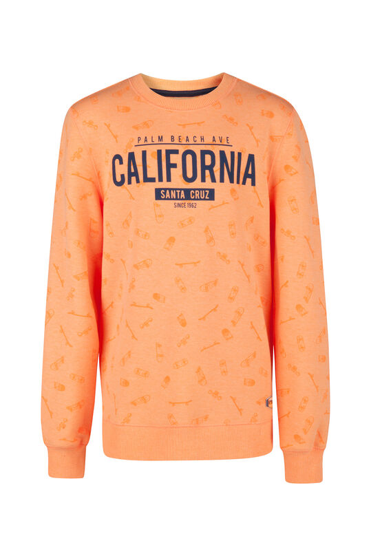 Jongens California print sweater Oranje