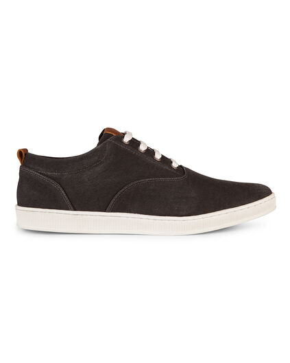 HEREN CANVAS SNEAKER Zwart