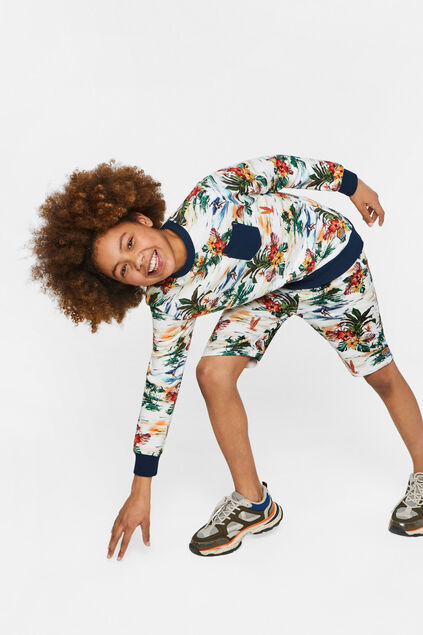 Jongens sweat short met dessin All-over print