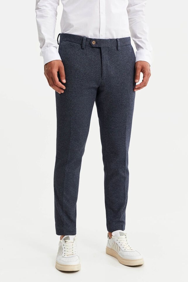 Heren slim fit pantalon, Jorritt Donkerblauw
