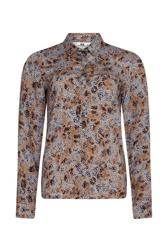 Dames geprinte blouse All-over print
