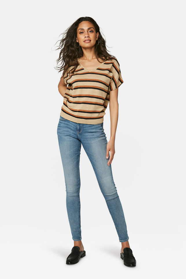 Dames mid rise super skinny jeans Lichtblauw