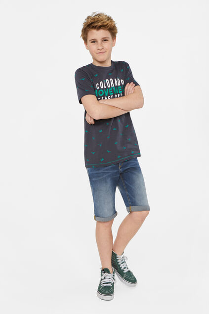 Jongens regular fit denimshort Blauw
