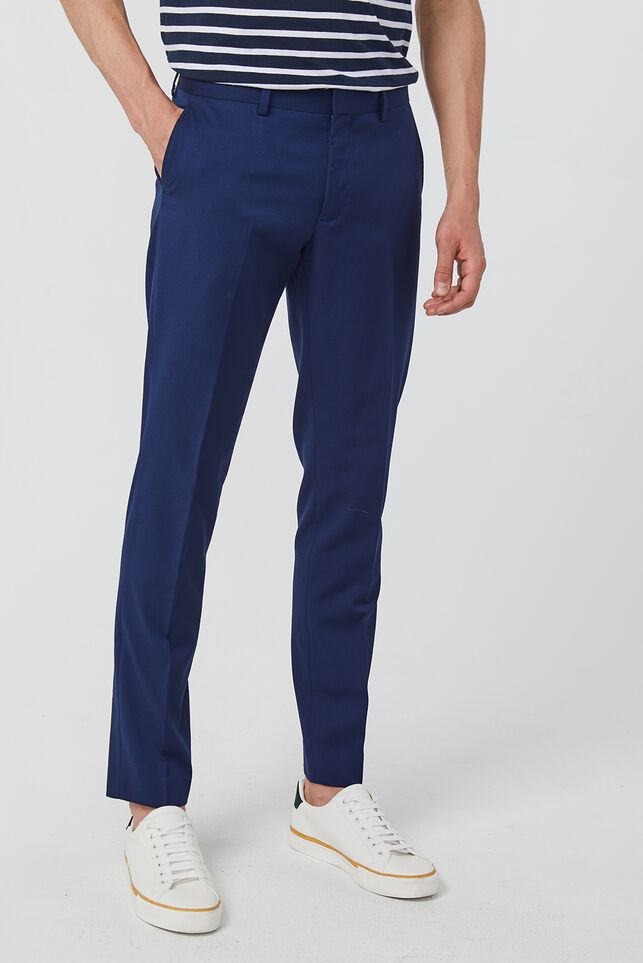 Heren slim fit pantalon, Dali Blauw