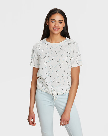 DAMES GRAFISCHE PRINT TOP Wit