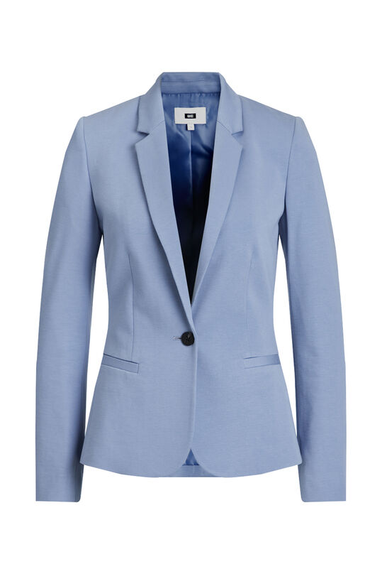 Dames regular fit blazer Lichtblauw