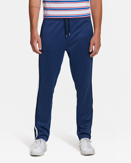 HEREN SKINNY TAPERED SPORTY STRIPE JOGGER Marineblauw