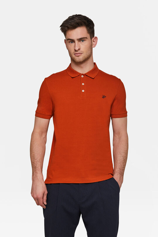 Heren organic cotton pique polo Oranje