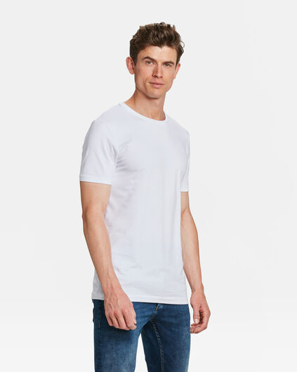 HEREN TALL FIT T-SHIRT 2-PACK Wit