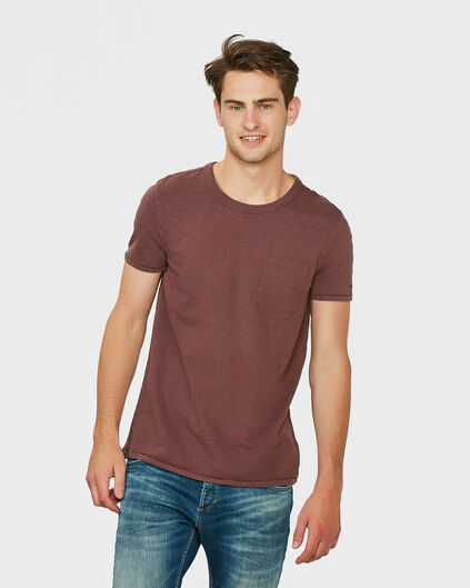 HEREN GARMENT DYED T-SHIRT Rood