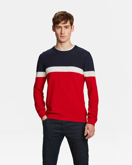 HEREN COLOURBLOCK TRUI Rood