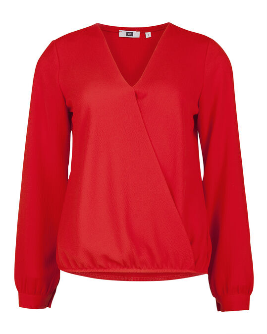 DAMES OVERSLAG TOP Rood