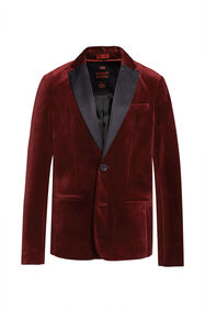 Jongens regular fit blazer_Jongens regular fit blazer, Rood