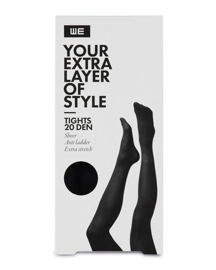 DAMES 20 DEN TIGHTS Zwart