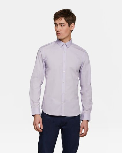 HEREN SLIM FIT STRETCH OVERHEMD Lavendel