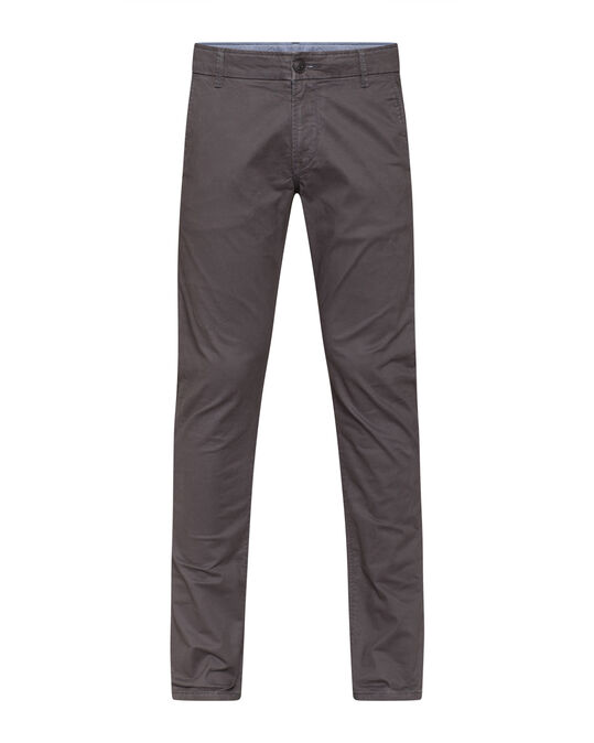 Heren slim tapered chino Donkergrijs