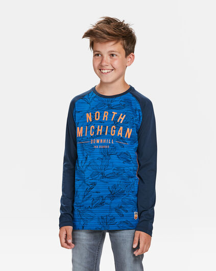 JONGENS MICHIGAN T-SHIRT Felblauw