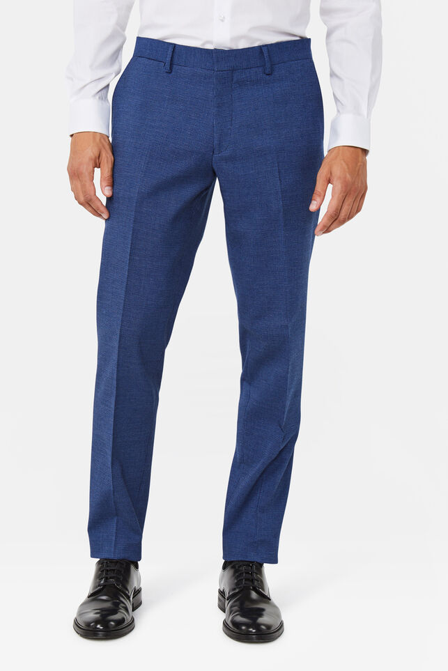Heren regular fit pantalon Benjamin Marineblauw