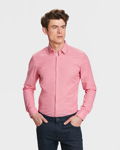 HEREN SLIM FIT CHAMBRAY OVERHEMD Roze
