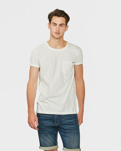 HEREN GARMENT DYE T-SHIRT Gebroken wit