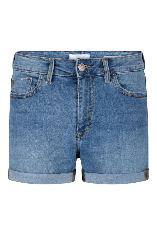 Dames denim short Blauw