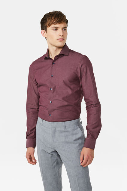 Heren Slim fit overhemd Rood