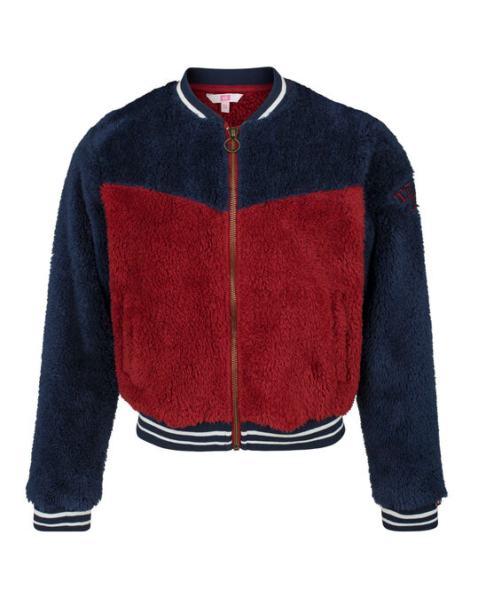 MEISJES TEDDY BOMBER Bordeauxrood