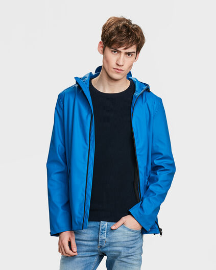 HEREN REGULAR FIT REGENJAS Felblauw
